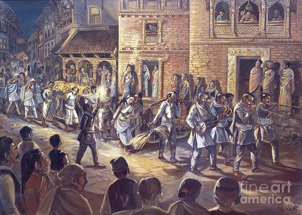Funeral procession by Hari Prasad Sharma