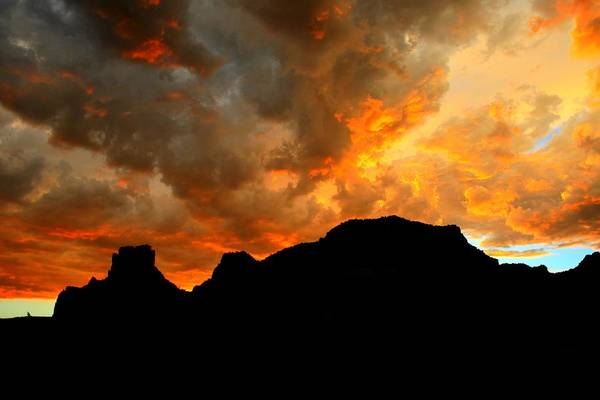 Arizona Art Print featuring the photograph Fire Mountain by Miles Stites
