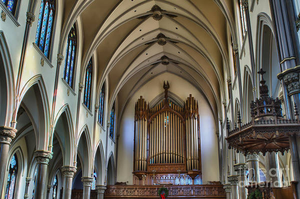 Art Print featuring the photograph St Louis Church 13 by Chuck Alaimo