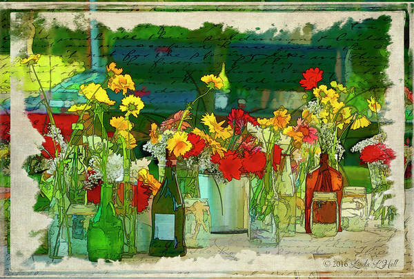 Flowers Art Print featuring the photograph The Gathering by Linda Lee Hall