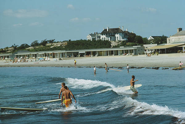 Lifestyles Art Print featuring the photograph Rhode Island Surfers by Slim Aarons