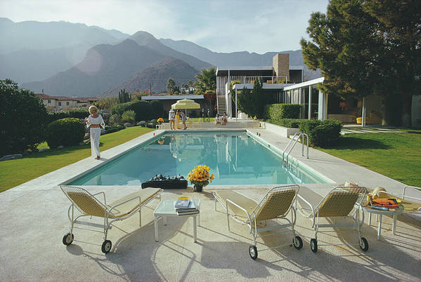 People Art Print featuring the photograph Kaufmann Desert House by Slim Aarons