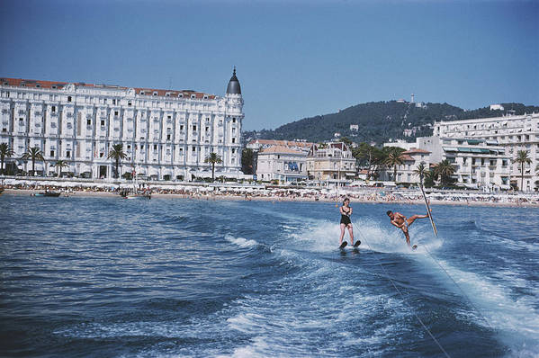 People Art Print featuring the photograph Cannes Watersports by Slim Aarons