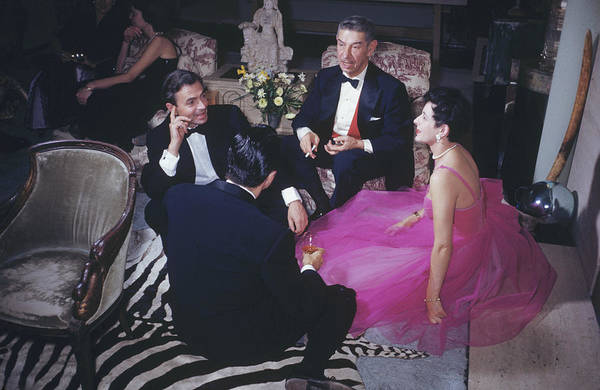 People Art Print featuring the photograph Celebrity Guests by Slim Aarons