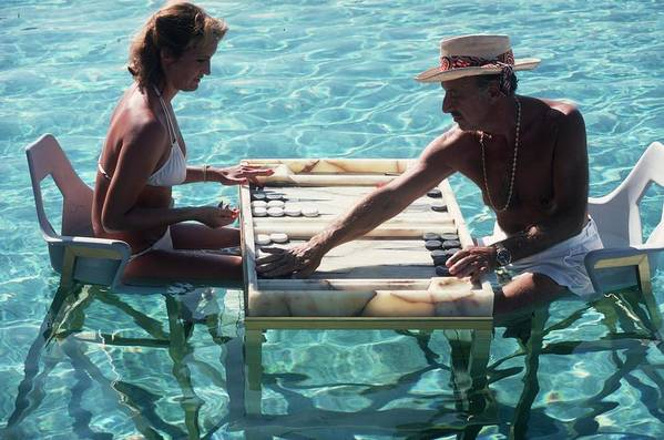 Straw Hat Art Print featuring the photograph Keep Your Cool by Slim Aarons