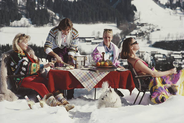 People Art Print featuring the photograph Luxury In The Snow by Slim Aarons