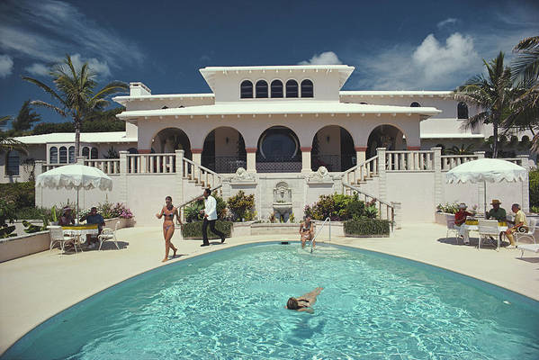Architectural Feature Art Print featuring the photograph Mcmartin Villa by Slim Aarons