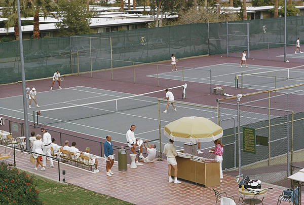 Tennis Art Print featuring the photograph Palm Springs Tennis Club by Slim Aarons
