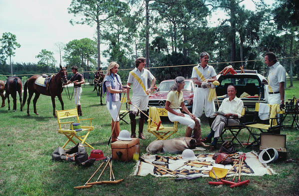 Horse Art Print featuring the photograph Polo Party by Slim Aarons