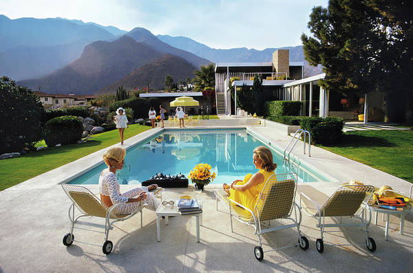 People Art Print featuring the photograph Poolside Glamour by Slim Aarons
