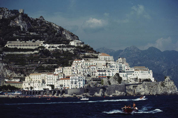 1980-1989 Art Print featuring the photograph The Town Of Amalfi by Slim Aarons