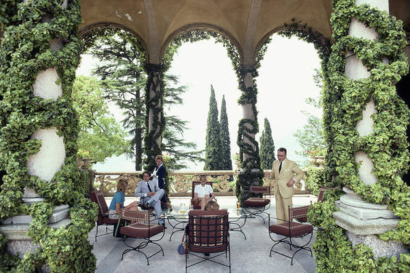 1980-1989 Art Print featuring the photograph Villa Del Balbianello by Slim Aarons