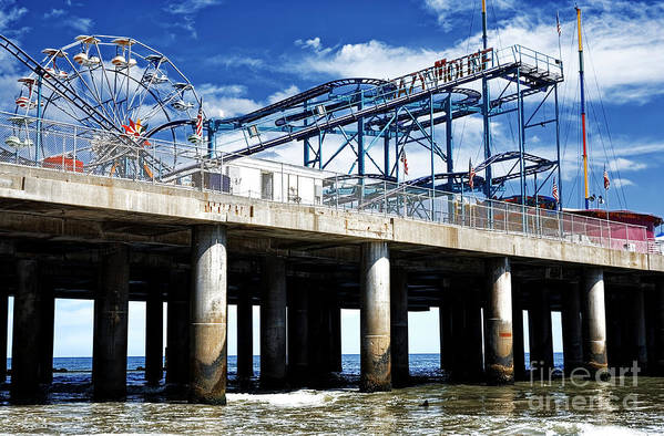Crazy Mouse Art Print featuring the photograph Crazy Mouse on the Steel Pier in Atlantic City by John Rizzuto