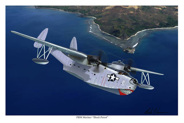 Aviation Art Art Print featuring the painting PBM Mariner by Mark Karvon