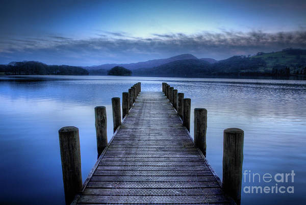 Rigg Wood Pier At Dusk, Coniston Water by Tom Holmes Photography