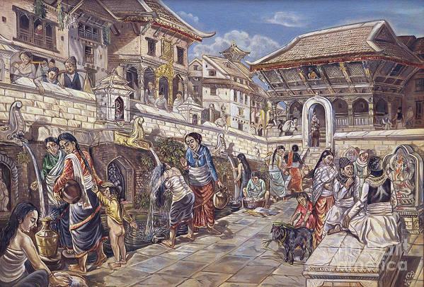 Stone spouts in the community by Hari Prasad Sharma