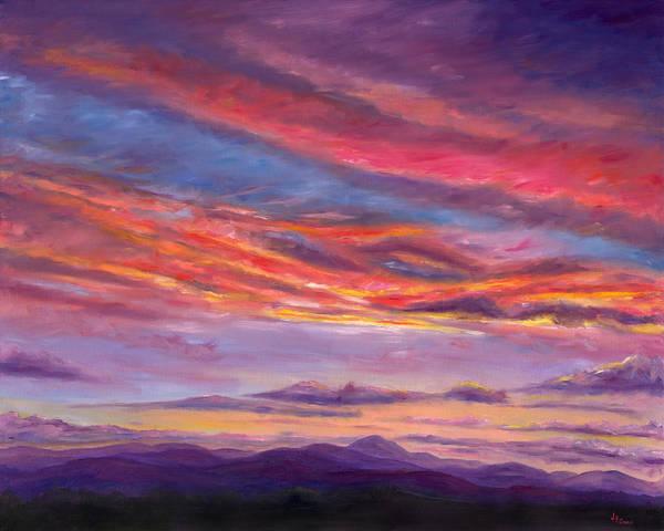 Landscape Art Print featuring the painting Pisgah Sunset by Jeff Pittman