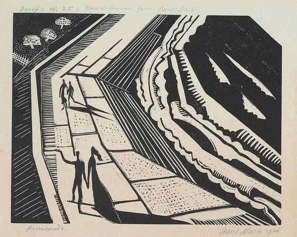 Paul Nash 1889-1946 Promenade Postan W 9 by Paul Nash