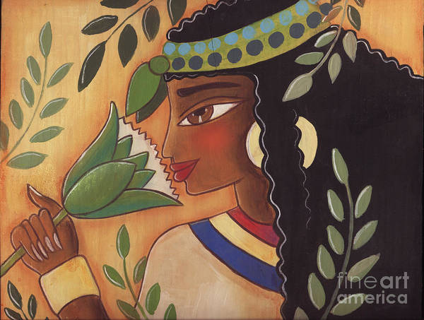 Ancient Egyptian Art Print featuring the painting Ancient Egyptian Belle by Elaine Jackson