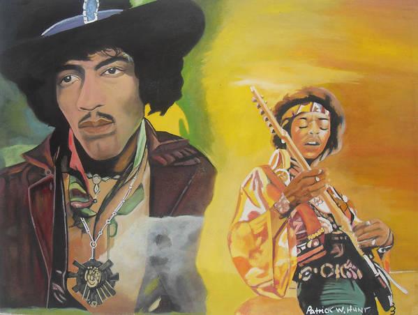 Jimmy Hendrix Art Print featuring the painting Jimmy Hendrix by Patrick Hunt