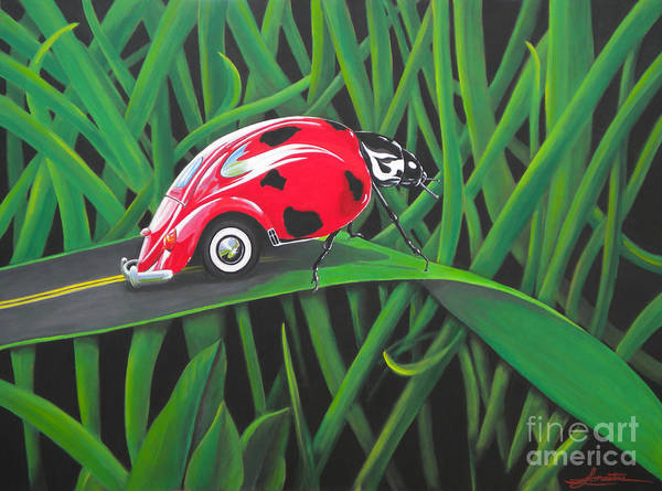 Bug Art Print featuring the painting Junk In The Trunk by Lynn Masters