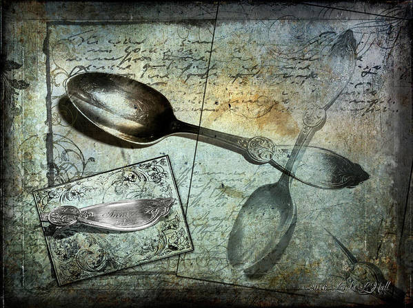 Blue Art Print featuring the photograph Ghosts of the Past Annies Spoon by Linda Lee Hall