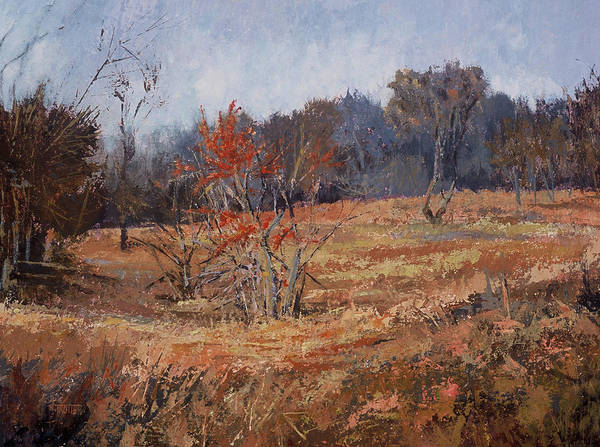 Landscape Art Print featuring the painting November Jewels by Jimmie Trotter