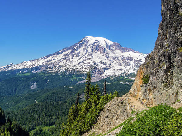 View of Mount Rainier from Pinnacle Saddle trail by Alex Smolyanyy