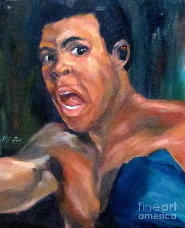 Fighter Art Print featuring the painting The Greatest by Patrick Mills