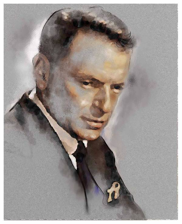Franky Art Print featuring the painting Sinatra by James Robinson