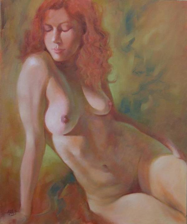 Fine Art Nude Art Print featuring the painting Emma by Pauline Adair
