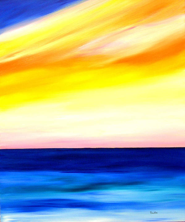 Caribbean Art Print featuring the painting Sea Sweet Sky by Sula Chance