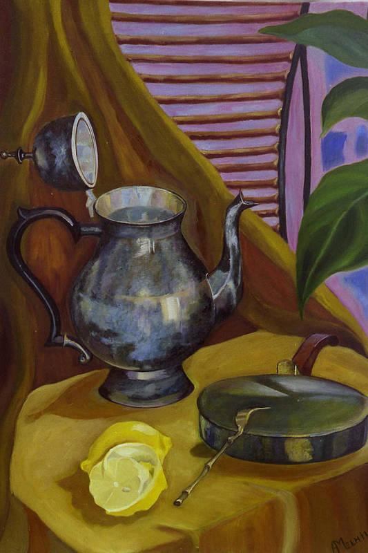 Still Life Art Print featuring the painting Morning by Antoaneta Melnikova- Hillman