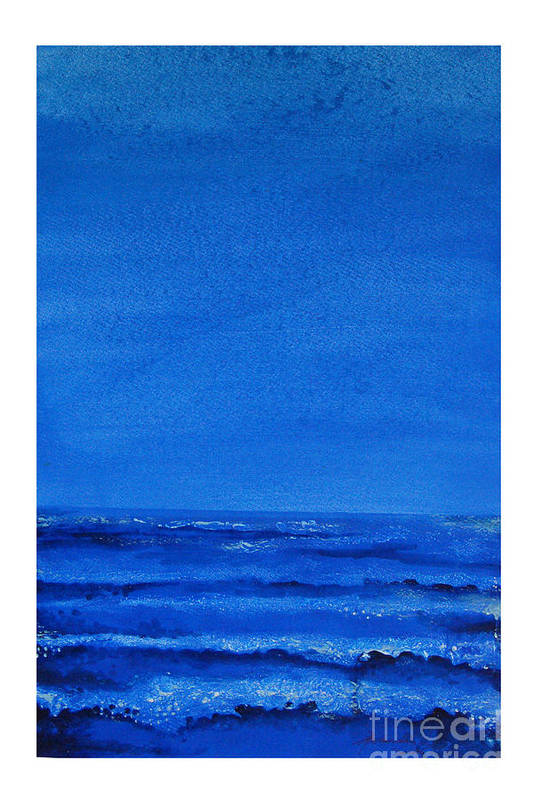 Abstract Art Print featuring the painting Seascape-0 by Padmakar Kappagantula
