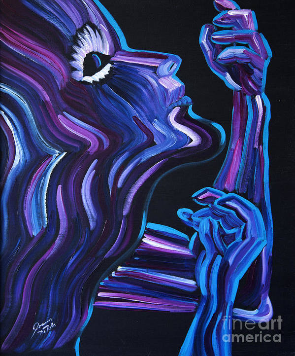 Figure Art Print featuring the painting Reach by JoAnn DePolo