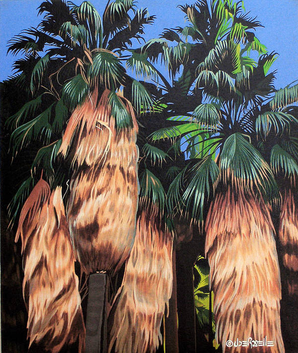 Desert Art Print featuring the painting Palm Canyon Entrance by Joe Roselle