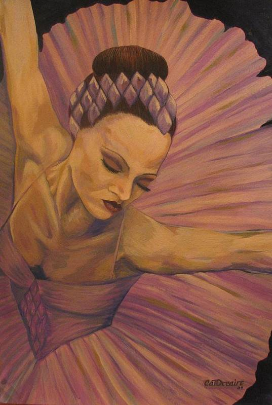 Ballet Art Print featuring the painting Lavendar Ballet by Catalina Decaire