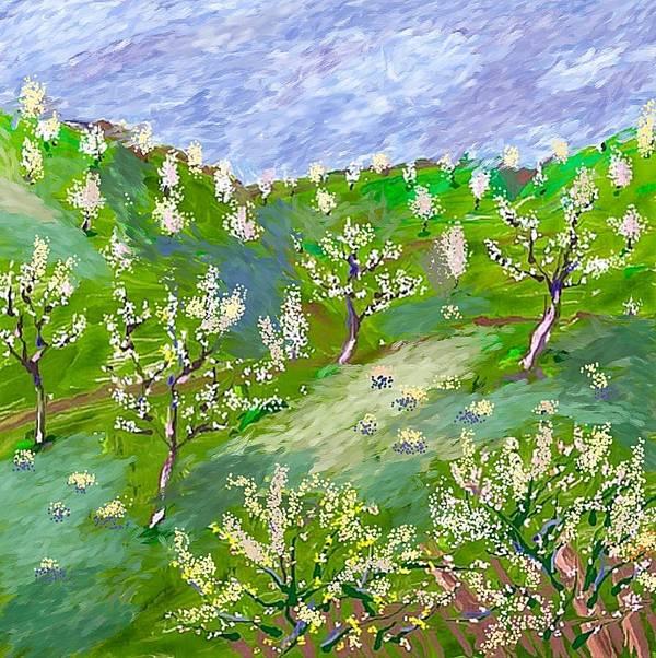 Landscape Art Print featuring the digital art Primavara by Bruno Iozef