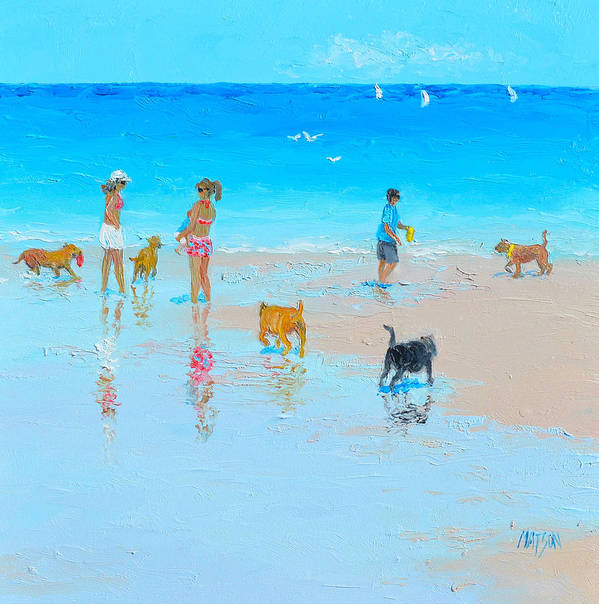 Dog Beach Day by Jan Matson