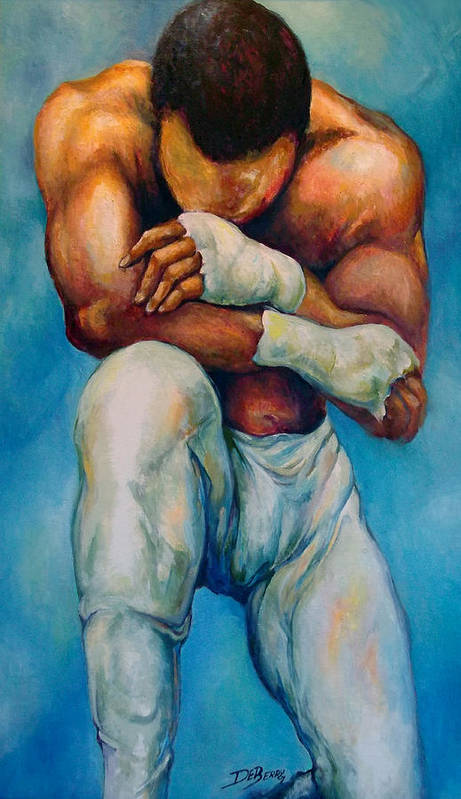 Michael Art Print featuring the painting Michael The Print by Lloyd DeBerry