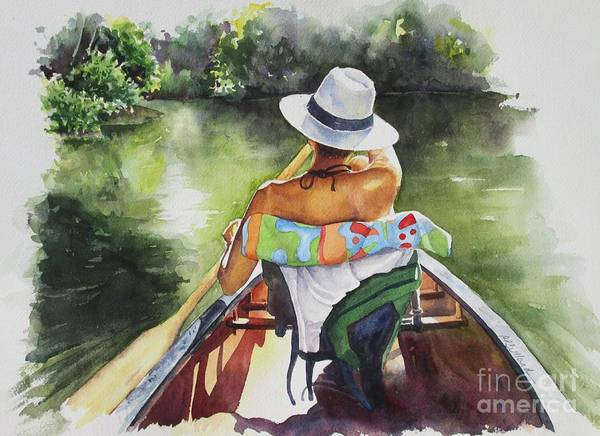 Summer Art Print featuring the painting Into The Future by Barbara Bullard