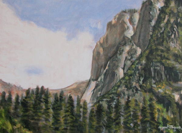 Landscape Art Print featuring the painting One Flight Up by Howard Stroman