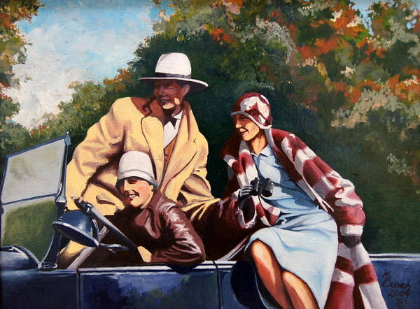 1930's Art Print featuring the painting Sneider by Kerry Burch