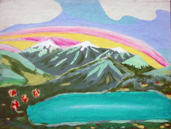 Impressionist Painting Art Print featuring the painting From The Mountains To The Sea by J R Seymour