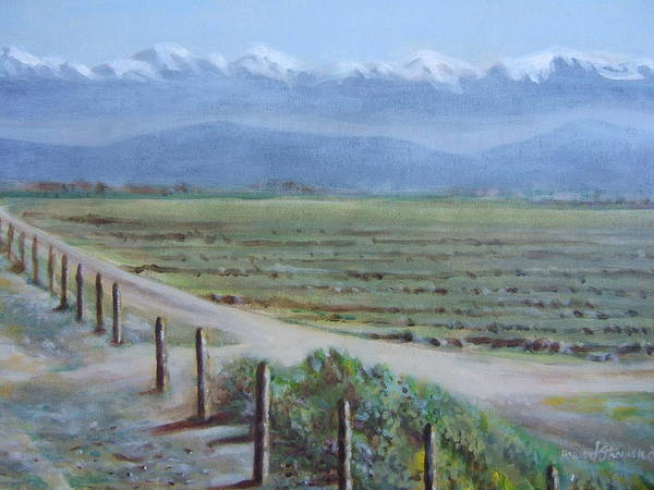 Landscape Art Print featuring the painting Central Valley At Tulare by Howard Stroman
