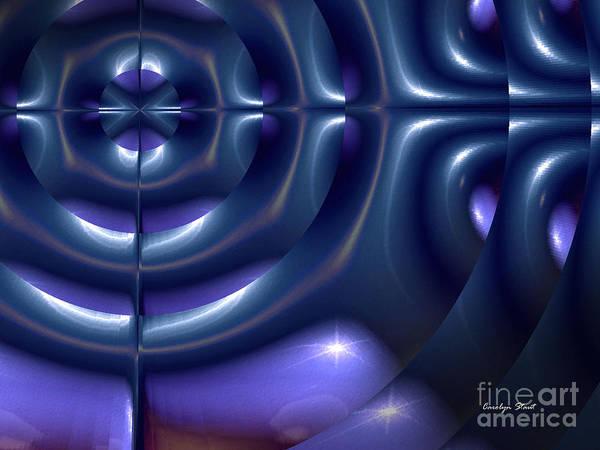 Blue Abstract Pattern Modern Digital Design Art Print featuring the digital art Chosen by Carolyn Staut