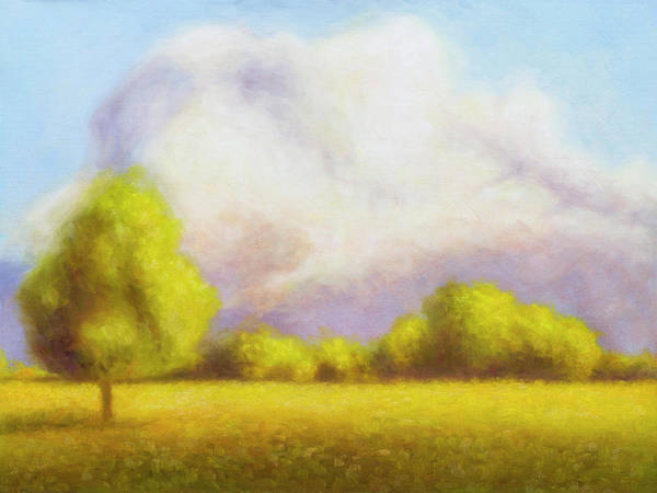 Art Print featuring the painting Morning In Texas - No 4 by Rob Blauser