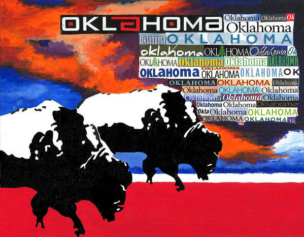 Oklahoma Art Print featuring the painting Oh Give Me A Home by Chris Cargill
