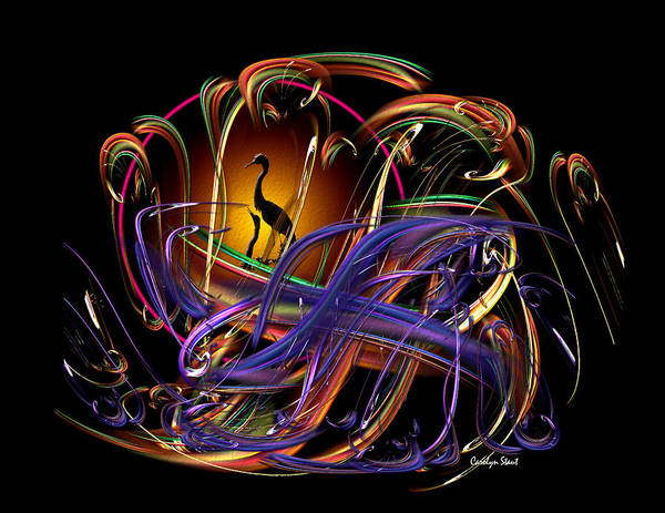 Abstract Art Print featuring the digital art The Promise by Carolyn Staut