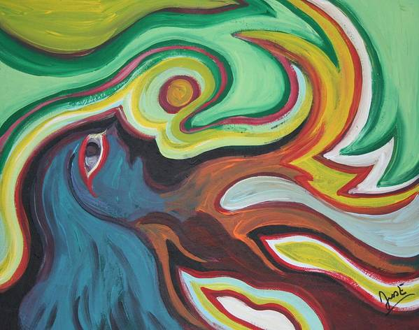 Figurative Art Print featuring the painting Waking by Jessica Kauffman